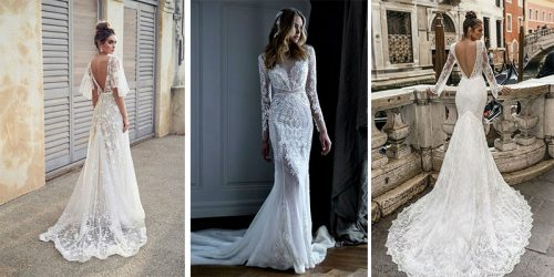 22 Graceful Lacy Long Sleeve Wedding Dresses for Autumn Brides