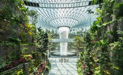 Tallest Indoor Waterfall in the World Supplied by Collected Rainwater at Singapore's Jewel Changi Airport