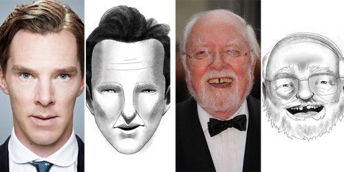 Drawfee's 'Criminal Sketch Artist Challenge' – Celebrity Illustrations Based Only on Oral Description