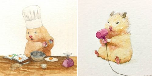 Meet Gotte – the Hamster Painter and His Inexhaustible Source of Inspiration – Sukeroku