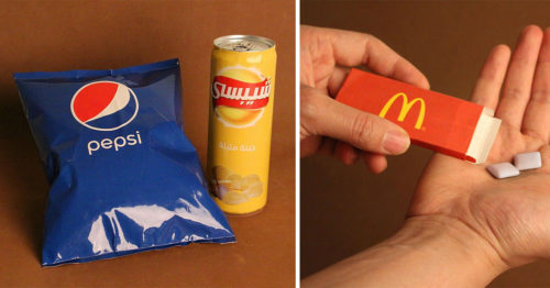 Playing with Logos and Brand's Products to Confuse Our Minds