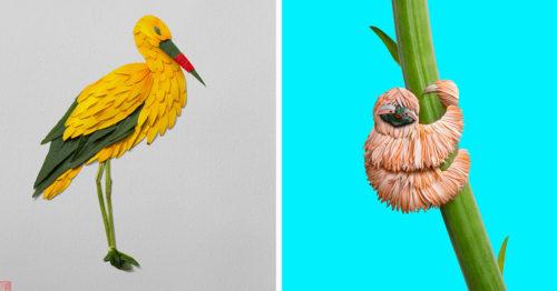 Flora & Fauna Meet in the Middle of 'Natura Wildlife' Series by Raku Inoue