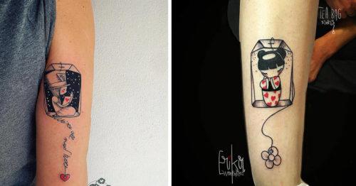 Tea Bag Tattoo Series by Erika Wonderland