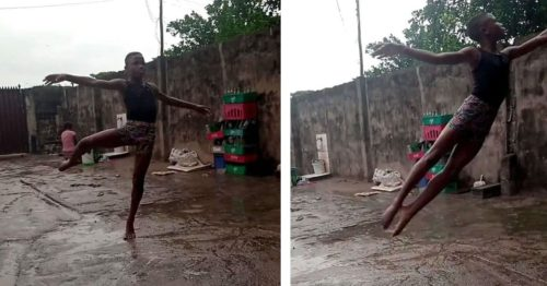 11-Year-Old Ballet Dancer From Nigeria Dances in The Rain and Mud – Becomes Famous